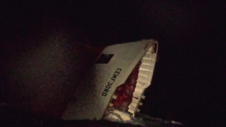 """Wrak statku """"Cemfjord"""" u wybrzeży Szkocji. Zaginęło 7 Polaków i 1 Filipińczyk"""