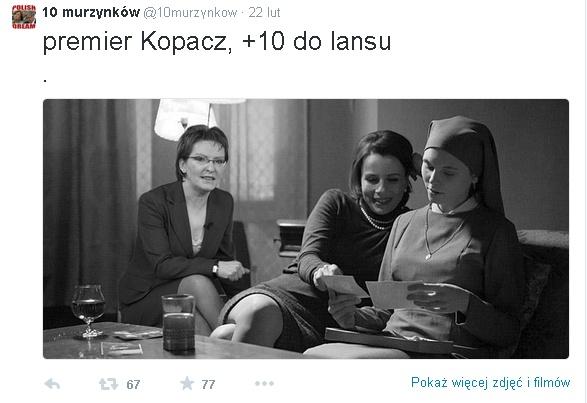 mem o Idzie i Ewie Kopacz / 10 murzynków