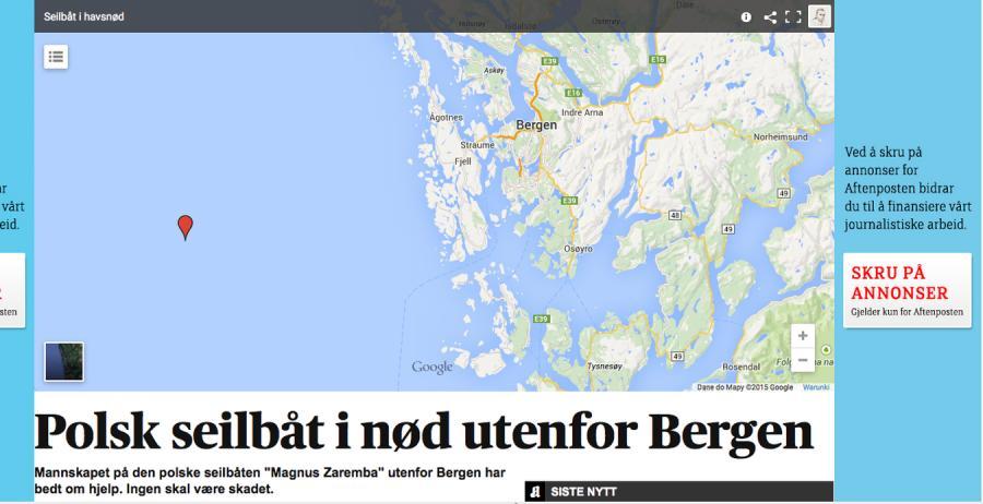 """""""Aftensposten"""": Polski jacht nadał sygnał SOS u wybrzeży Norwegii"""