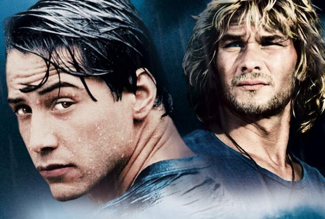 """Keanu Reeves i Patrick Swayze –gwiazdy oryginalnego """"Na fali"""""""