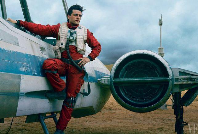 Pilot Poe Dameron w kreacji Oscara Isaaca