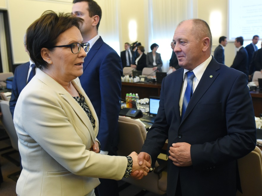Ewa Kopacz i Marek Sawicki