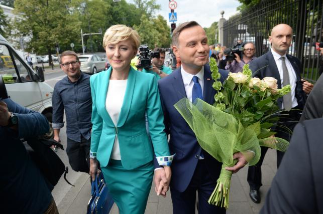Prezydent elekt Andrzej Duda i jego żona Agata