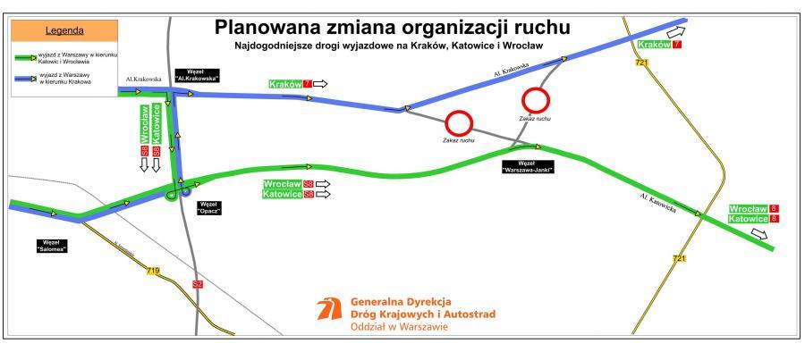 Mapa inwestycji na trasie S8