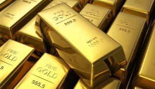 Sztabki złota; zdjęcie ilustracyjne