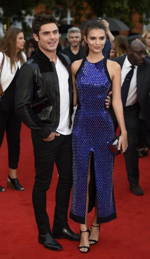 Zac Efron i Emily Ratajkowski na premierze w Londynie