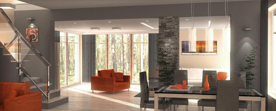 Wizualizacja wnętrza domu