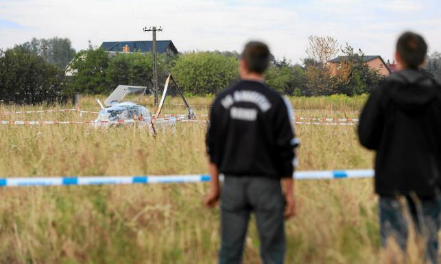 Śmigłowiec TVN24 kompletnie zniszczony. Zobacz ZDJĘCIA po wypadku
