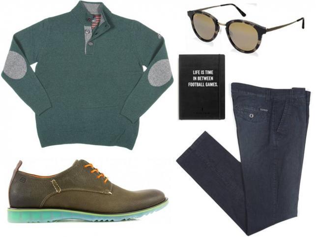 Sweter i spodnie – NAVIGARE/ navigare.eu, buty- Badura/Badura.pl, okulary- TK Maxx/tkmaxx.com