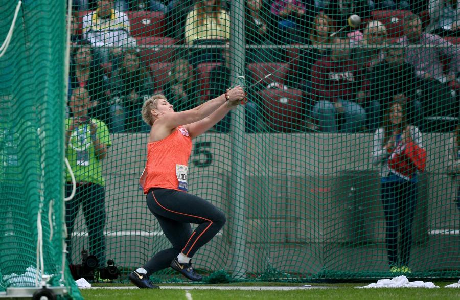 Anita Włodarczyk podczas konkursu rzutu młotem na Warszawskim Memoriale Kamili Skolimowskiej w lekkiej atletyce