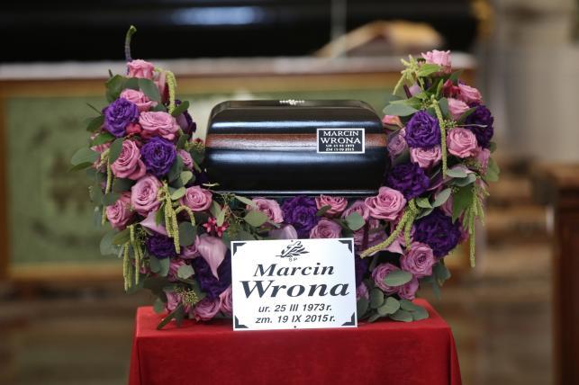 Ostatnie pożegnanie Marcina Wrony