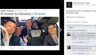 Wpis Mercedesa na FB
