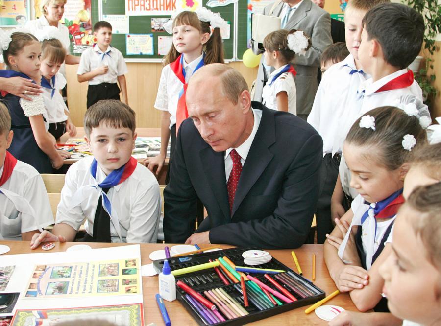 Putin jest popularny także wśród najmłodszych pokoleń