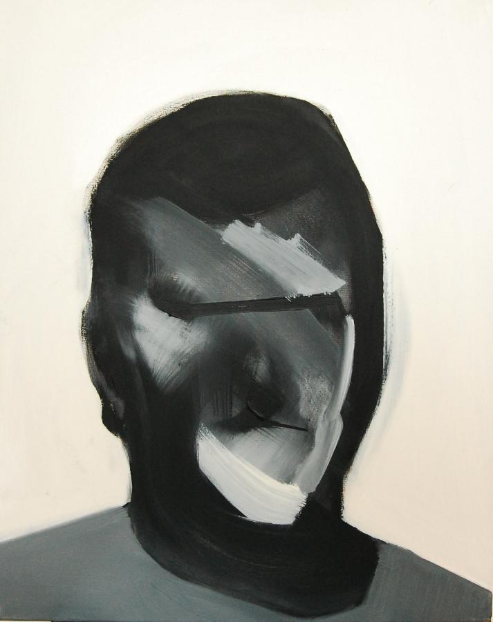 """""""Szkice do portretu 8"""", Cezary Bednarczyk, olej na płótnie, 50x40 cm"""