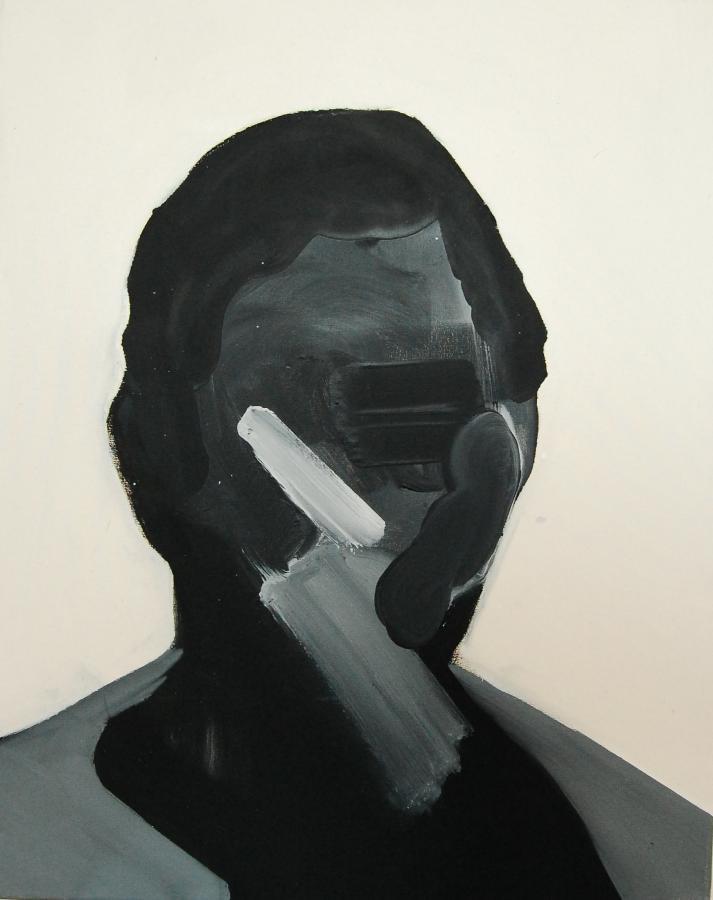 """""""Szkice do portretu 14"""", Cezary Bednarczyk, olej na płótnie, 50x40 cm"""
