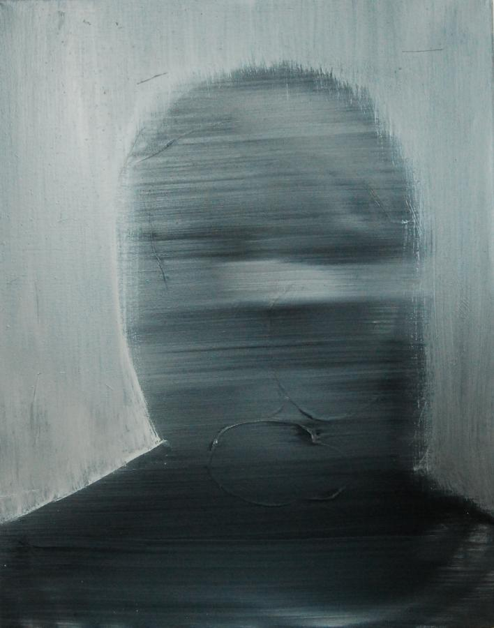 """""""Szkice do portretu 25"""", Cezary Bednarczyk, olej na płótnie, 50x40 cm"""