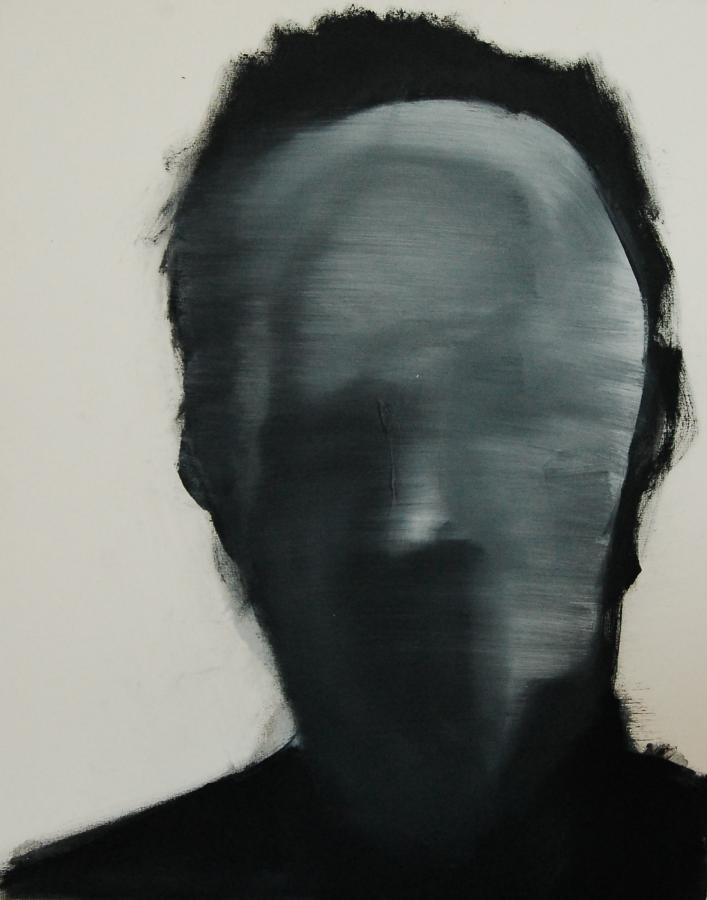 """""""Szkice do portretu 27"""", Cezary Bednarczyk, olej na płótnie, 50x40 cm"""