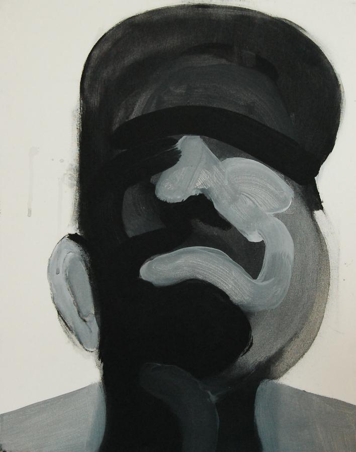 """""""Szkice do portretu 32"""", Cezary Bednarczyk, olej na płótnie, 50x40 cm"""