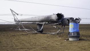 Zniszczona linia energetyczna