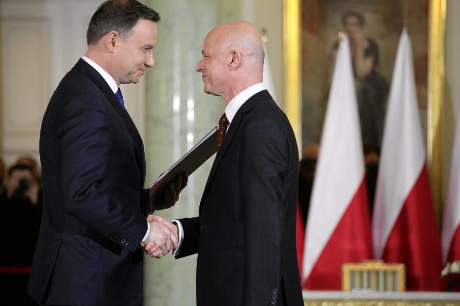 Paweł Szałamacha i prezydent Andrzej Duda
