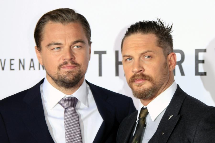 """Leonardo DiCaprio i Tom Hardy na premierze """"Zjawy"""""""