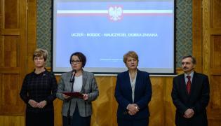 """Konferencja prasowa """"Uczeń - rodzic - nauczyciel. Dobra zmiana, czyli o ogólnopolskiej debacie"""""""