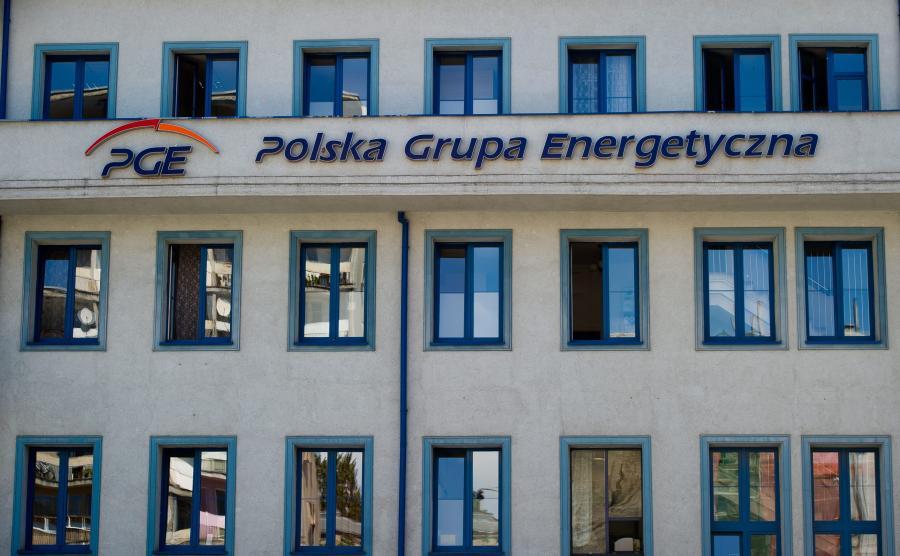 Budynek należący do Polskiej Grupy Energetycznej