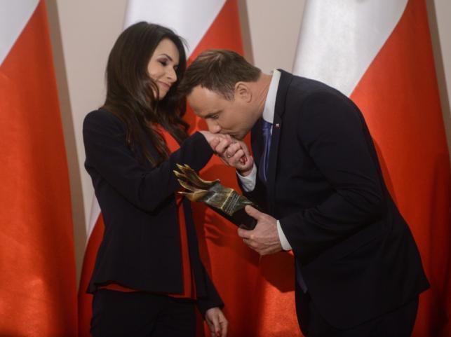 Marta Kaczyńska i Andrzej Duda