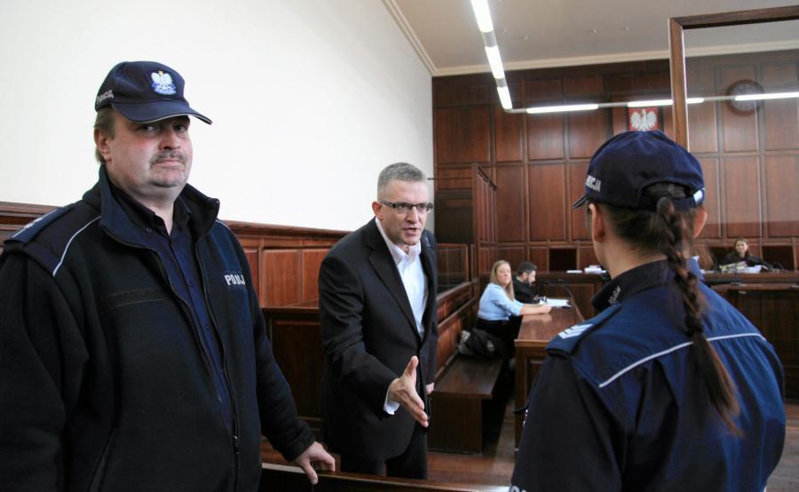 Grzegorz Braun w sądzie