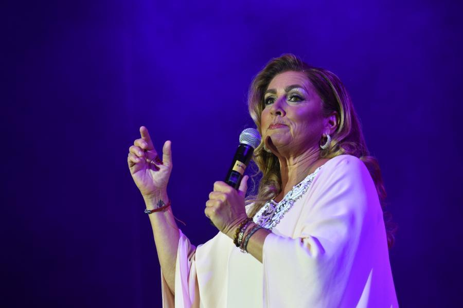 Romina Power podczas koncertu w Krakowie