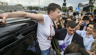 Nadia Sawczenko po powrocie do Kijowa