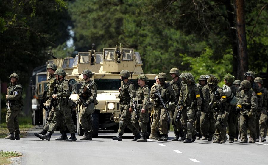 Współdziałanie wojsk operacyjnych z pododdziałem obrony terytorialnej w operacji \