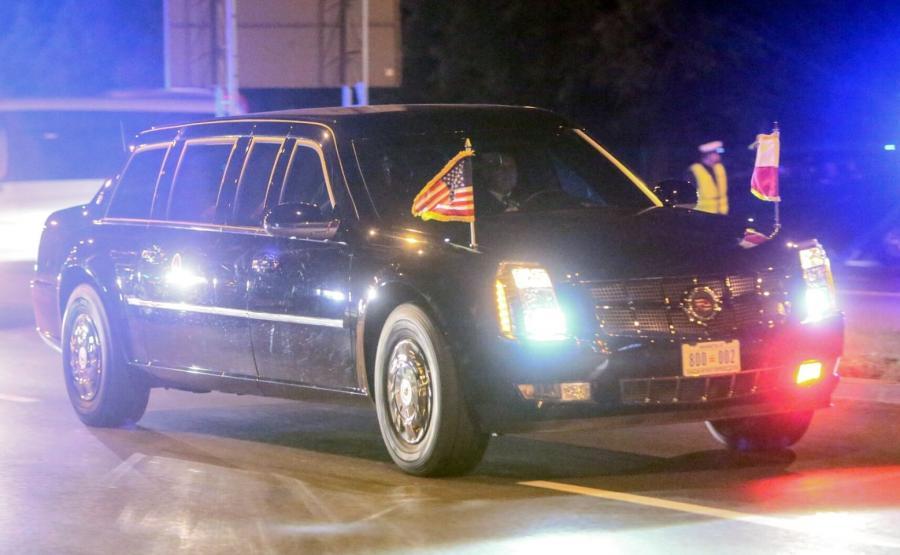 Limuzyna z prezydentem Stanów Zjednoczonych Barackiem Obamą