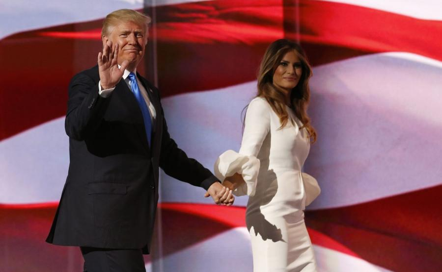Donald Trump z małżonką
