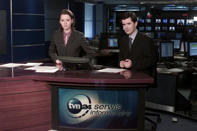 Anita Werner i Piotr Marciniak w TVN24