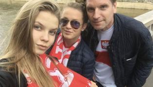 Tomasz Lis z córkami Polą i Igą