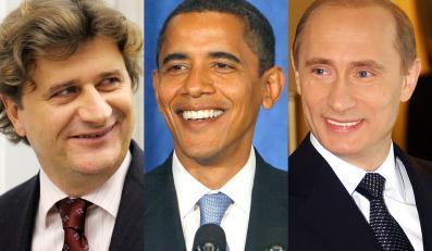 Szopka z udziałem Janusza Palikota, Władimira Putina i Baracka Obamy