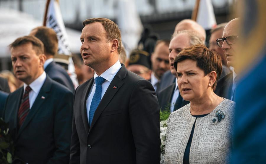 Mariusz Błaszczak, Andrzej Duda i Beata Szydło