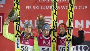 Kamil Stoch, Maciej Kot i Markus Eisenbichler