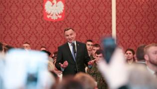 Prezydent Andrzej Duda przemawia w Żaganiu