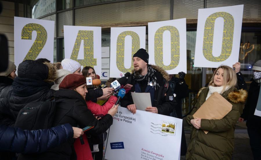 Piotr Cykowski z Akcji Demokracja i Agnieszka Warso-Buchanan  z Fundacji ClientEarth Prawnicy dla Ziem