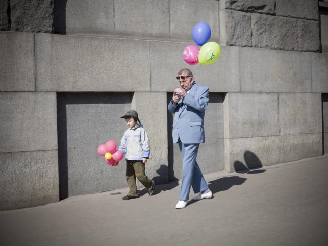 Moskwa, Rosja: pierwszomajowy pochód