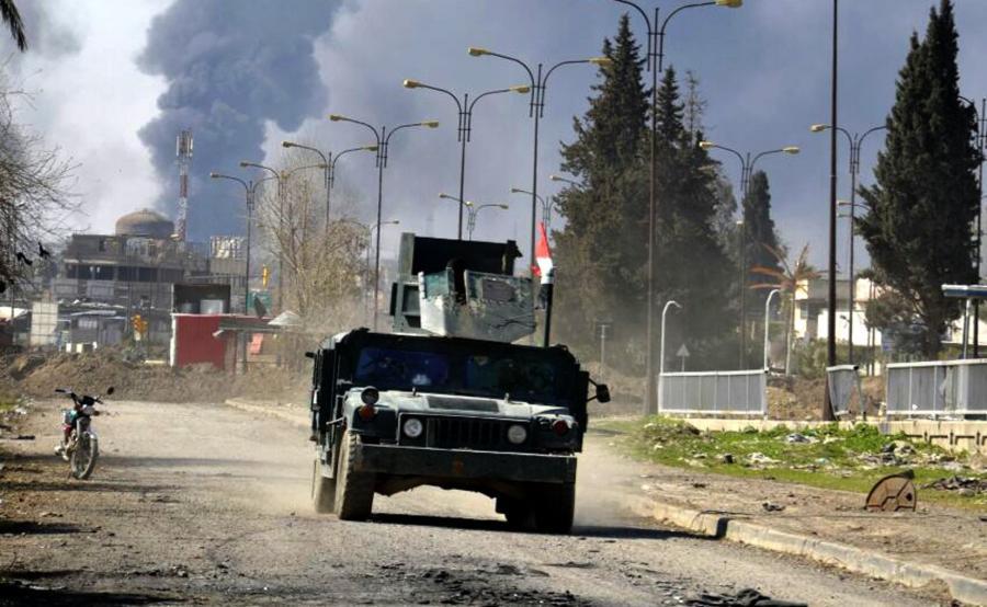 Walki w Mosulu. Miasto płonie