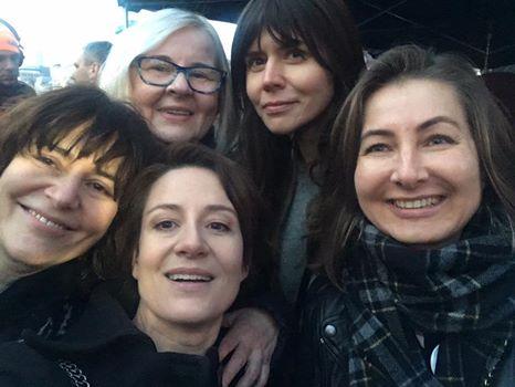 Kazimiera Szczuka, Maja Ostaszewska, Malgorzata Szumowska na Strajku Kobiet