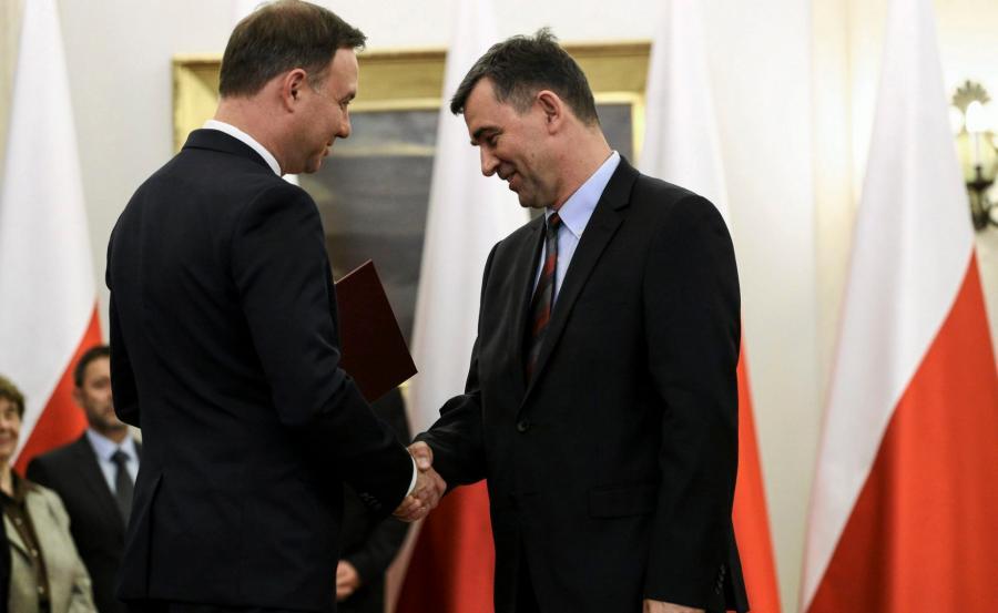 Prezydent Duda i Andrzej Przyłębski
